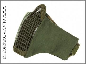 101inc gear Airsoft nylon/mesh face mask olijf groen