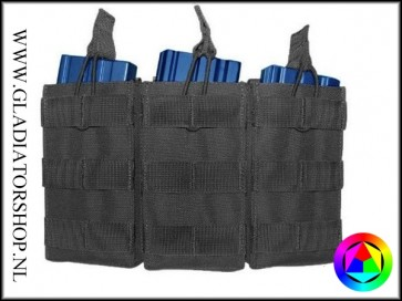 101inc Triple open top M4 / M16 airsoft magazine pouch