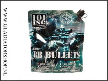 101 Inc. Airsoft BB 0.25gram 6mm Bio 3000 stuks