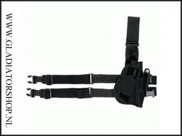 Beenholster De Luxe zwart, rechts