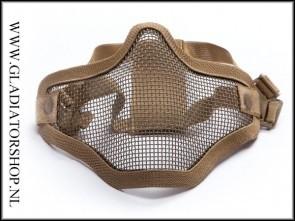 Invader gear  Airsoft mesh face mask Tan
