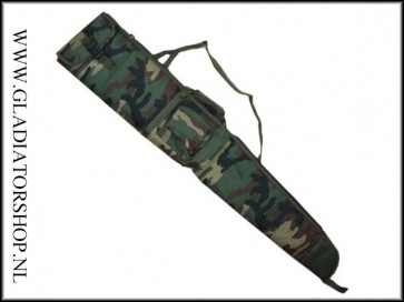 Fosco Airsoft/paintball sniper geweer tas woodland camouflage (125cm)