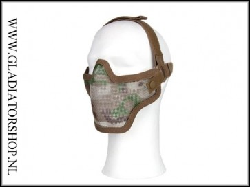 101inc gear Airsoft mesh face mask Woodland camo