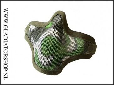 101inc gear Airsoft mesh face mask multicam