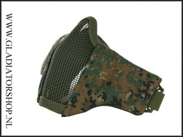 101inc gear Airsoft nylon/mesh face mask digital camo