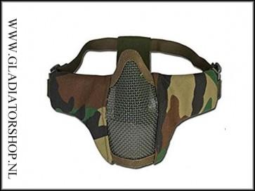101inc gear Airsoft nylon/mesh face mask Woodland