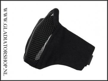 101inc gear Airsoft nylon/mesh face mask zwart