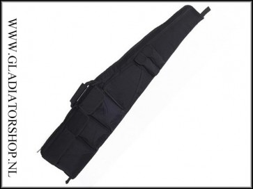 Stealth shooter sniper Airsoft replica geweer & pistool tas ultimate de Luxe Zwart (125cm)