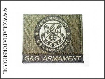 G&G Armament official airsoft green, klittenband patch