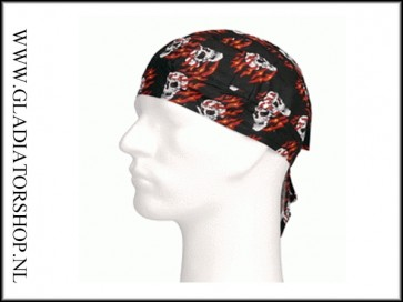 Bandana Flaming skull