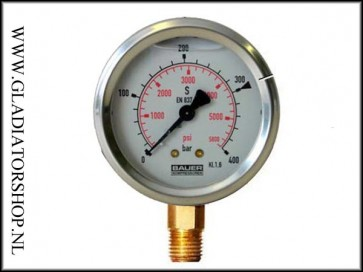 Bauer compressor gauge max. 400 bar