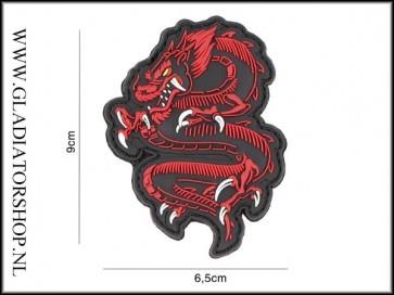 PVC Velcro Patch: Dragon Rood