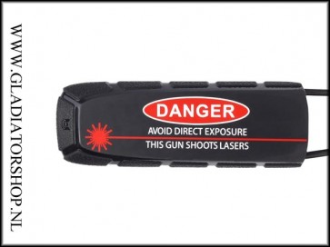 Exalt Bayonet barrelsock Danger, this gun shoots lasers