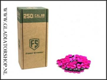 Tiberius Arms First Strike paintballs pink / smoke 250 stuks