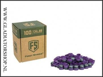 Tiberius Arms First Strike paintballs purple / smoke 100 stuks