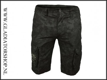 Kosumo stone washed korte broek night camo