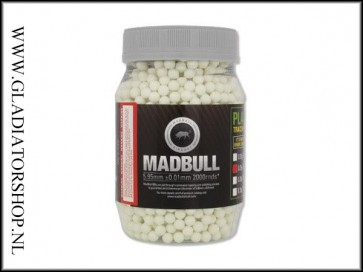 Madbull Airsoft 6mm Tracer BB 0.25 gram, 2000 stuks