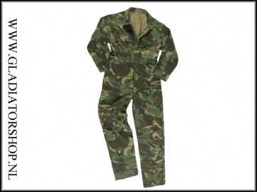 Camouflage overall maat 52
