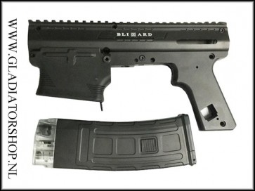 Tacamo Blizzard magfed conversion kit voor Tippmann M98 inc. 1 Dmag Helix magazijn