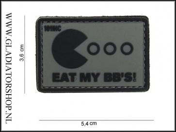 PVC Velcro Patch: Eat my BB's grijs