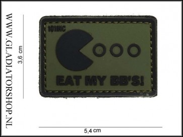 PVC Velcro Patch: Eat my BB's groen