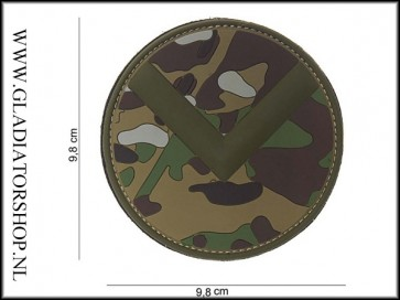 PVC Velcro Patch: Spartaan schild multicam