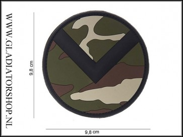 PVC Velcro Patch: Spartaan schild woodland