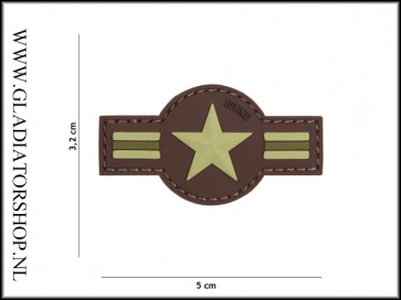 PVC Velcro Patch: US airforce bruin