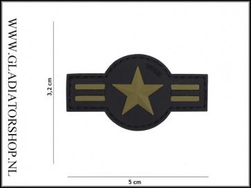 PVC Velcro Patch: US airforce zwart