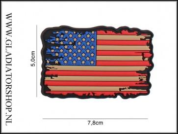 PVC Velcro Patch: USA vintage