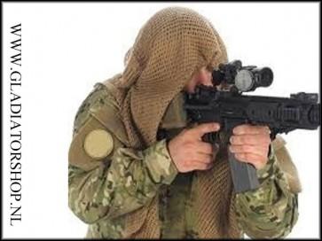 Sniper net scarf face veil desert tan