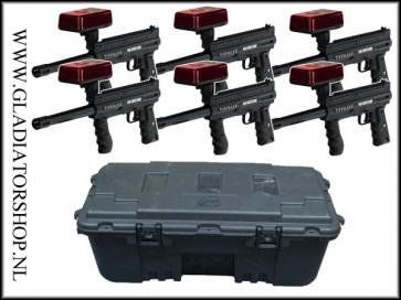 Tippmann Barracuda lasertag systeem 6 pack inclusief case