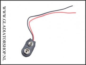 Universele 9 volt blok batterij connector