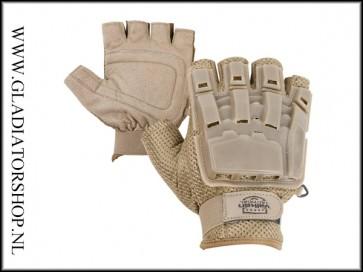 Valken V-Tac half vinger handschoen tan