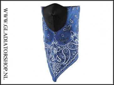 Zan Neodanna half face blue mouth scarf
