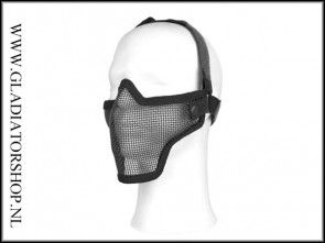 101inc gear Airsoft mesh face mask zwart