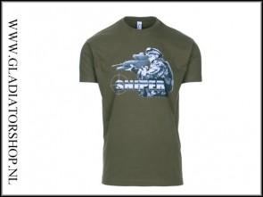 Black Ops Sniper T-shirt kleur groen