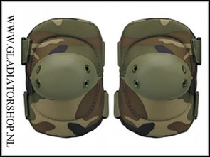 101-INC Tactical elleboog bescherming woodland camo elbow pad