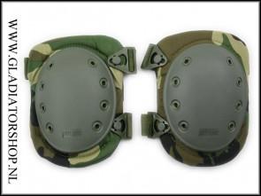 101-INC Tactical knie bescherming woodland camo knee pad