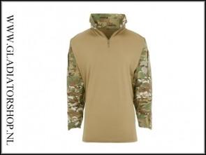 101Inc Tactical combat shirt warrior UBAC DTC Multi met elleboog bescherming.