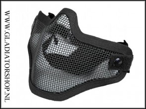 Invader gear Airsoft mesh face mask zwart