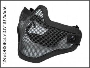 FiDragon 1G ST04 Airsoft mesh face mask zwart
