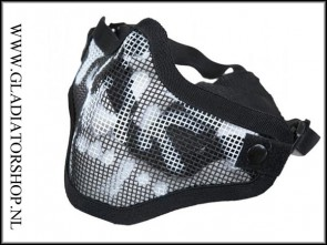 Invader gear Airsoft mesh face mask skull