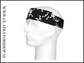 Bandana black skulls, 3 in 1 bandana