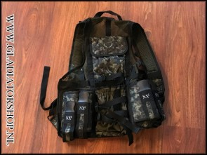 (O) NXE tactical vest light infantry digicam