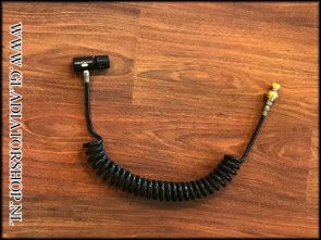 (O) Remote line coiled hose met slide check