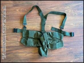 (O) Battlepack 4+1 horizontaal/verticaal harnas groen met draagriemen