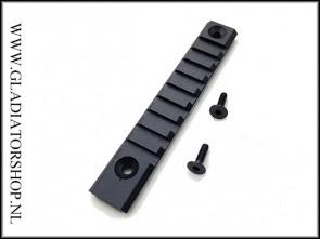 Warrior 120mm weaver base rail met 9 montage slots