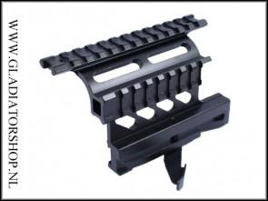 Warrior tactical AK47 offset top & side weaver mount rail