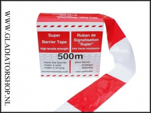 Afzet lint 500 meter rood wit